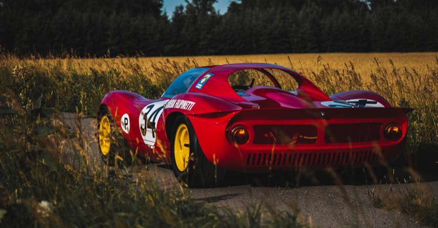 Ferrari Dino on country road