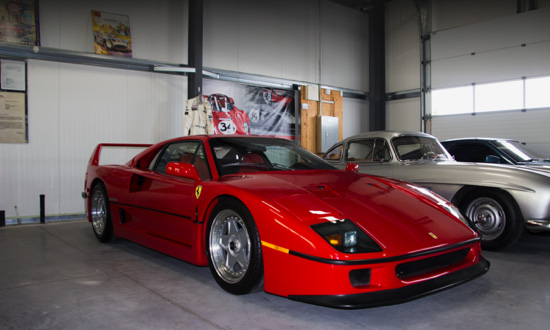 1990 Ferrari F40 at Vintage Motor Sports in Ottawa