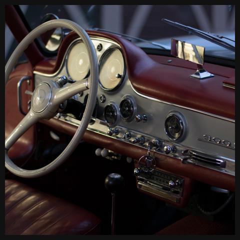 Mercedes Gullwing dash