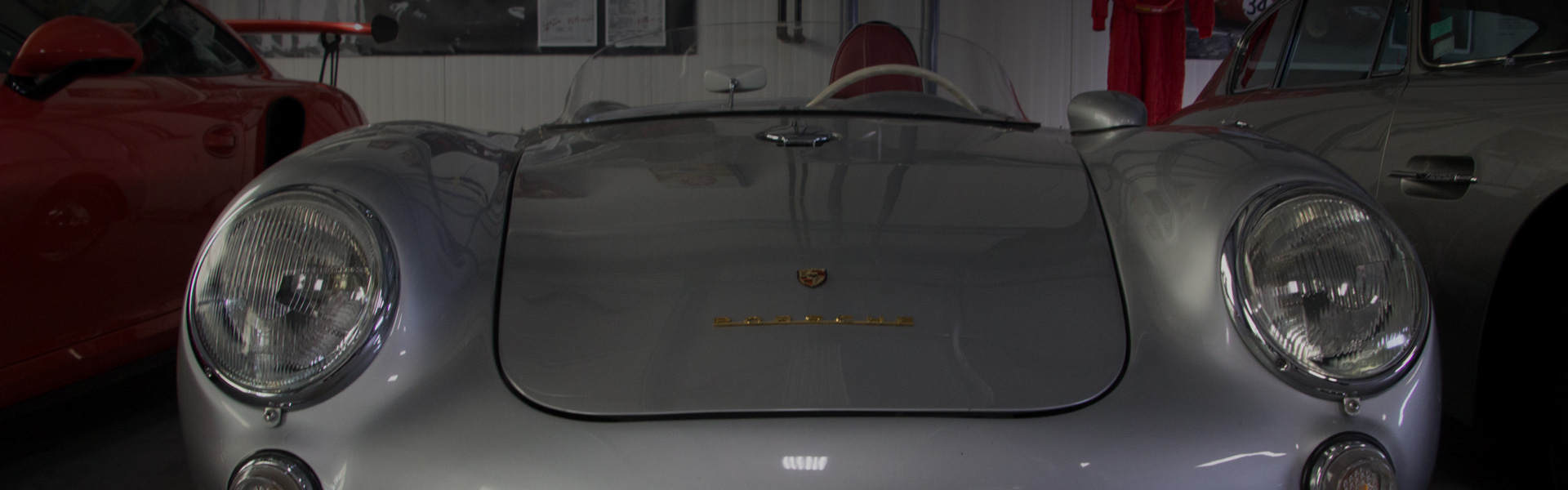 1956 Porsche 550 Spyder front view